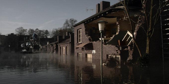 Filmszene aus Sturmflut